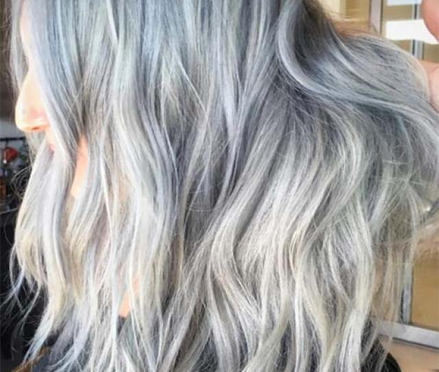 Silver Hair Trend Grey Hair Colors Tips For Going Gray