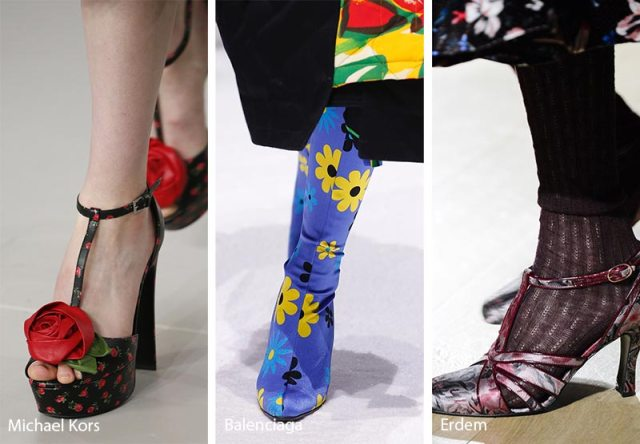 Fall/ Winter 2018-2019 Shoe Trends: Floral Printed Shoes & Boots
