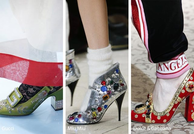 Fall/ Winter 2018-2019 Shoe Trends: Shoes & Boots with Rhinestones and Jewel Embellishments