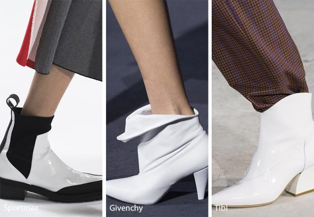 Fall/ Winter 2018-2019 Shoe Trends: White Ankle Boots