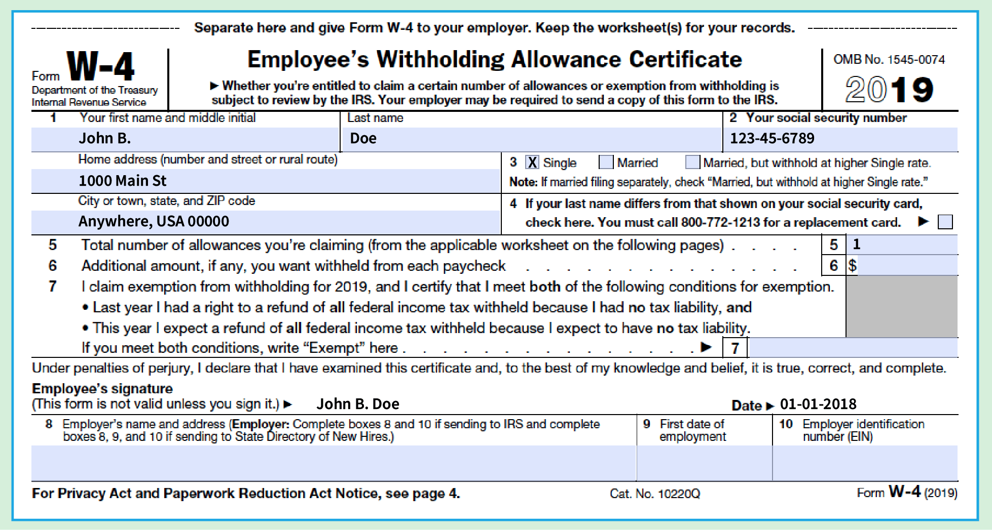 How To Fill Out A W 4 Form The Only Guide You Need