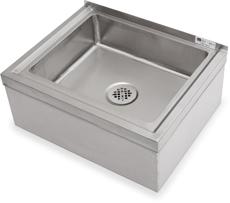 john boos pbms2424 6 x stainless steel floor mop sink 24 x 24 x 6