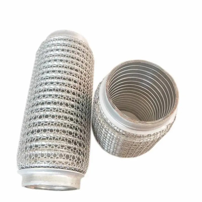 outer wire mesh flexible exhaust pipe