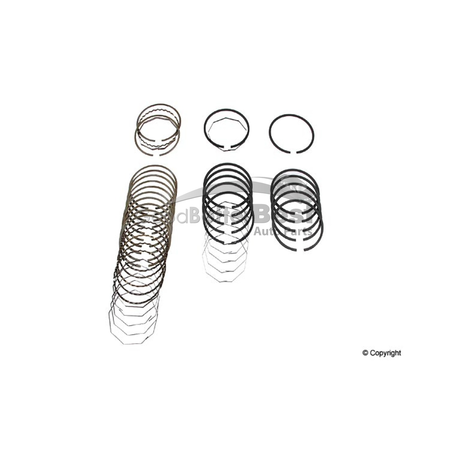 New Deves Engine Piston Ring Set For Mercedes Mb