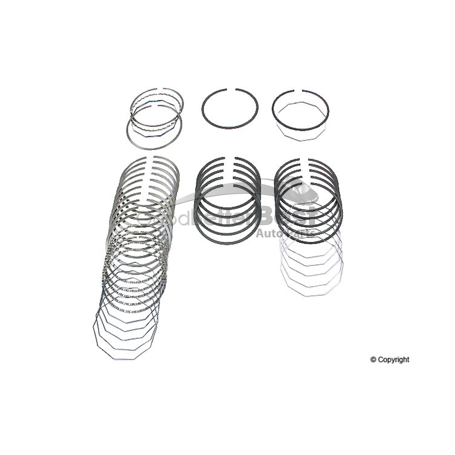 New Deves Engine Piston Ring Set Std Bmw 535i 635csi