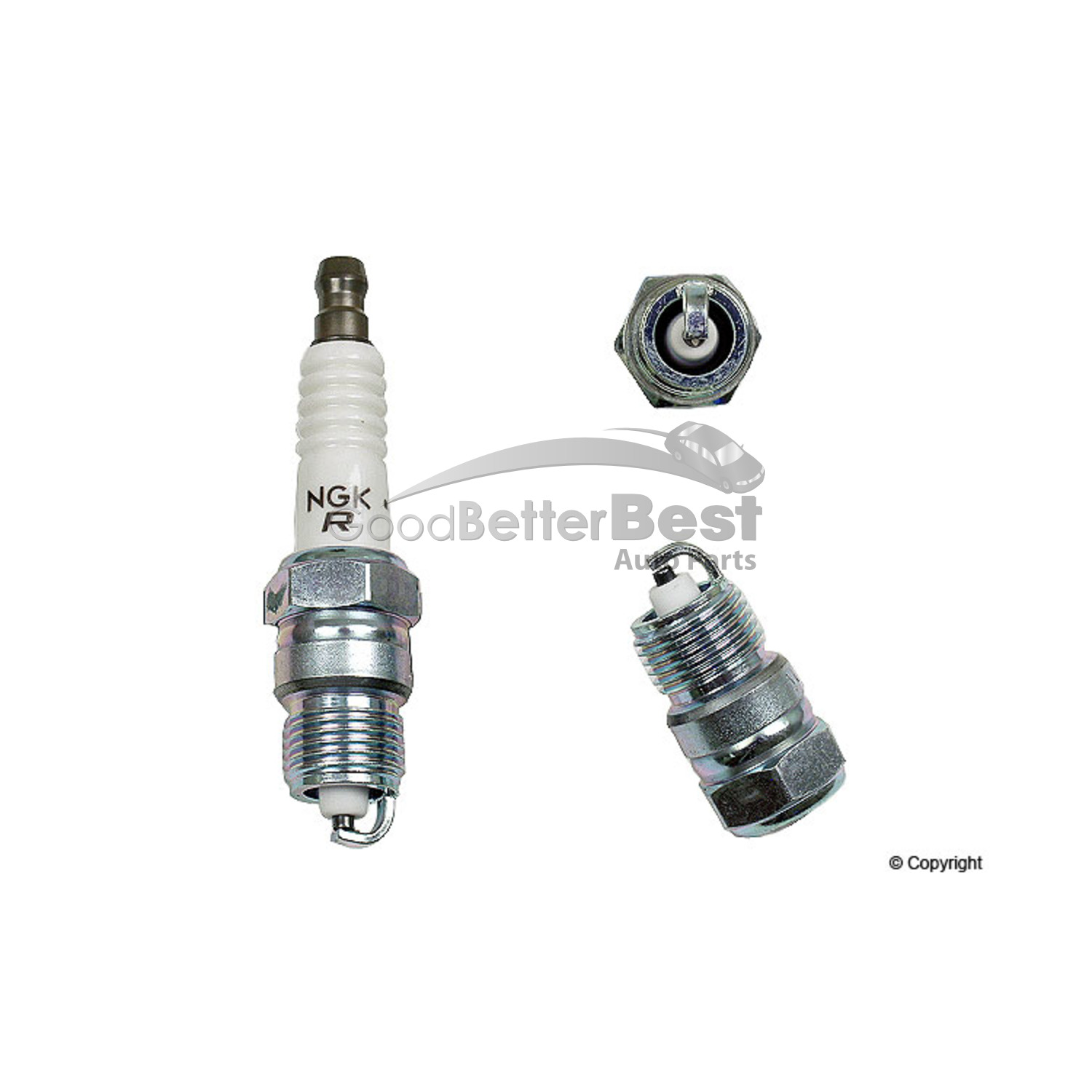 One New Ngk V Power Resistor Spark Plug Ur4 For