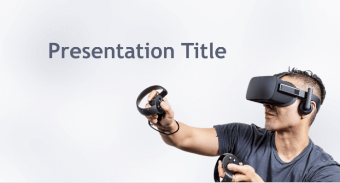 Virtual reality PowerPoint template