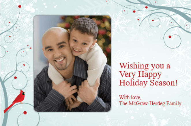 Holiday photo card PowerPoint template