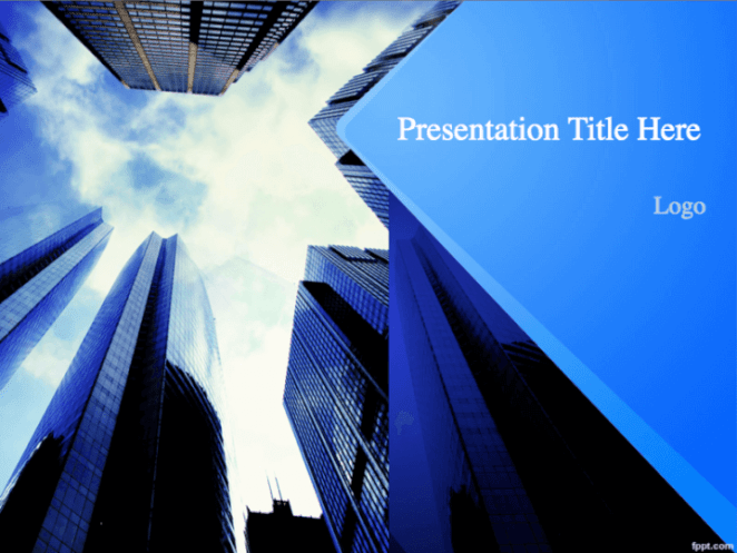Cityscape views PowerPoint template