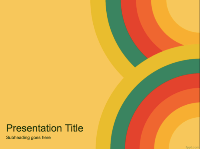 Bright colored PowerPoint template