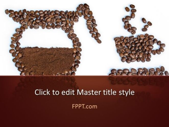 Coffee-centric PowerPoint template