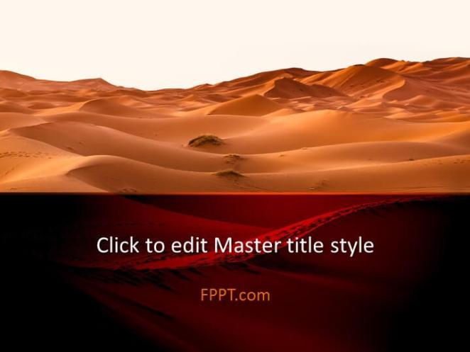 Desert design PowerPoint template