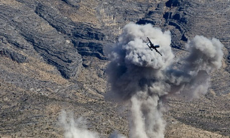 The files went up in figurative smoke, like the target of this A-10 on a training run in Nevada.