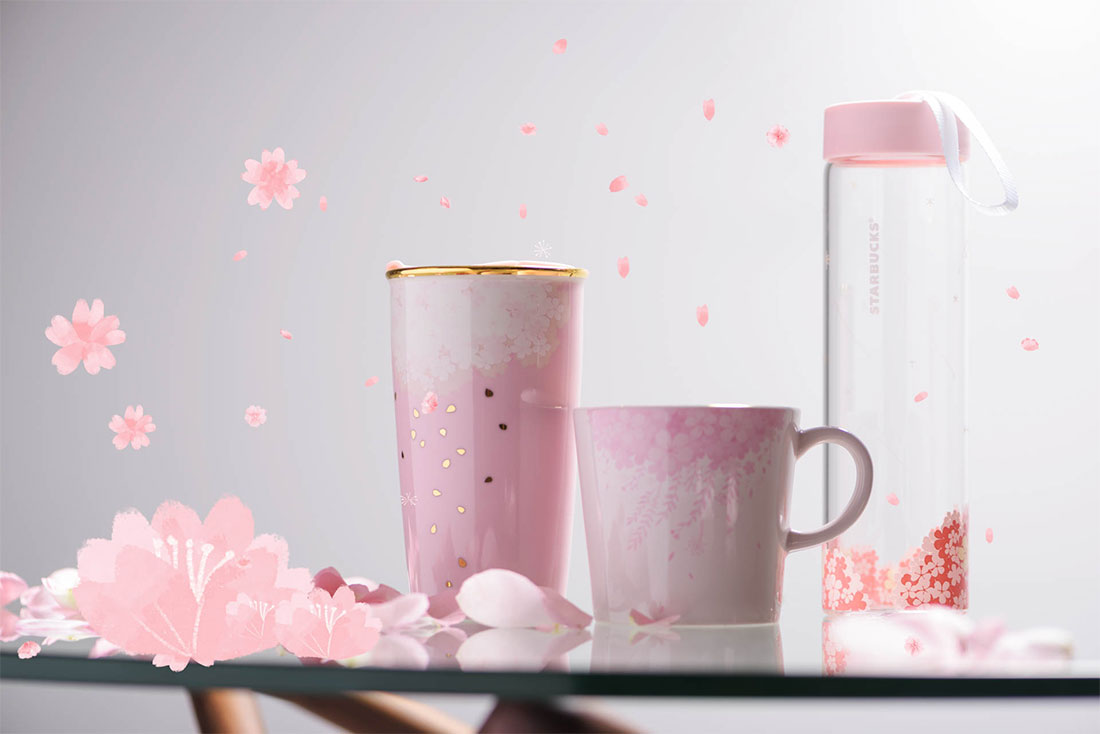 Starbucks Releases New Blossom Clouds Merchandise To