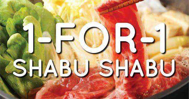 Shabu-shabu buffet for only $12.45 per person with SUKI-YA Bugis+ 1-for-1 promotion till April 8