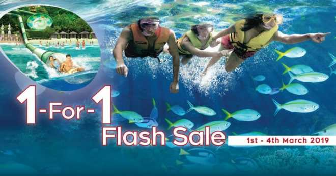 Adventure Cove Waterpark to offer 1-for-1 Flash Sale on March 1 – 4 because school holidays are coming