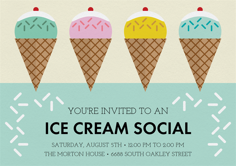 Ice Cream Social Invitations Greenvelope Com