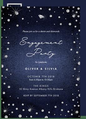 Denim And Diamonds Invitations Greenvelope Com