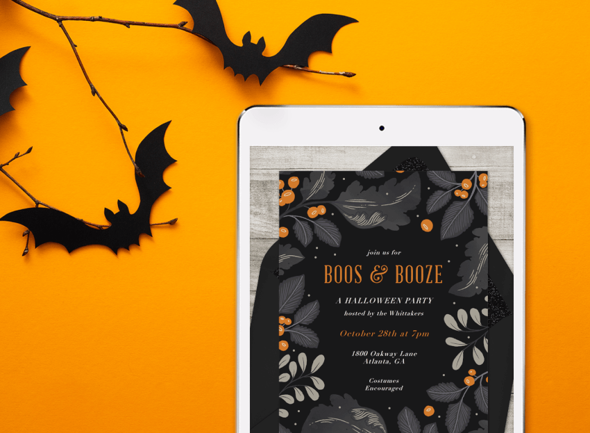 these scary good halloween invitations