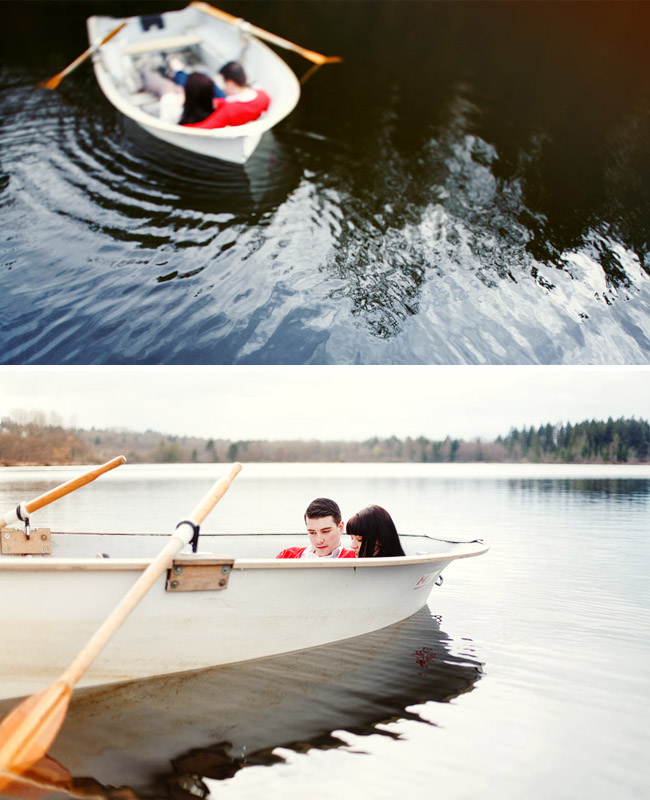 couple on rowboat