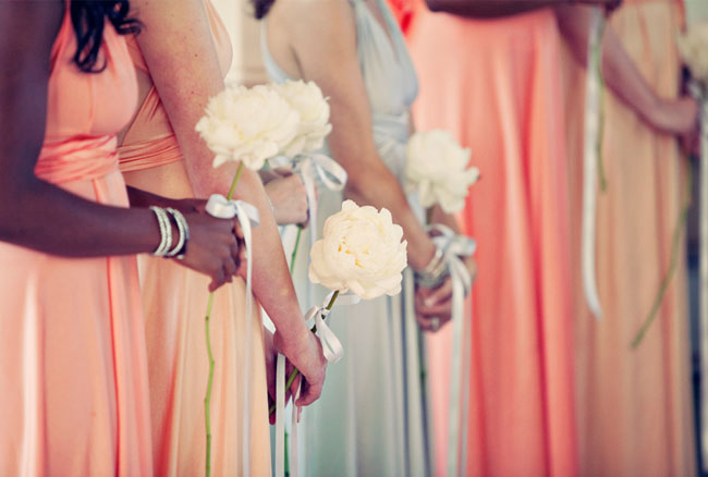 coral bridesmaids dresses