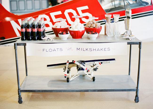 floats and milkshake wedding bar