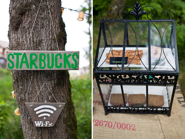 starbucks store in the woods