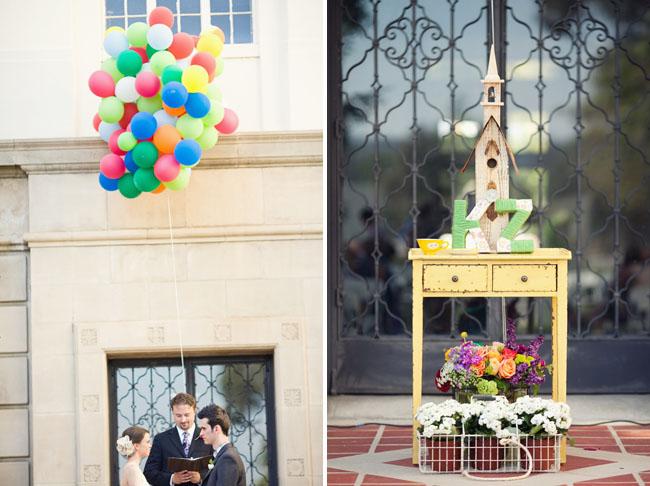 balloon up inspired wedding ceremony