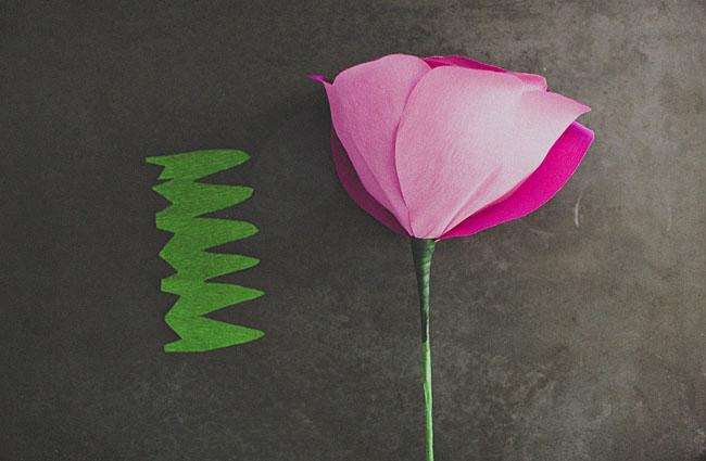 diy-gigante de papel-rosa-13