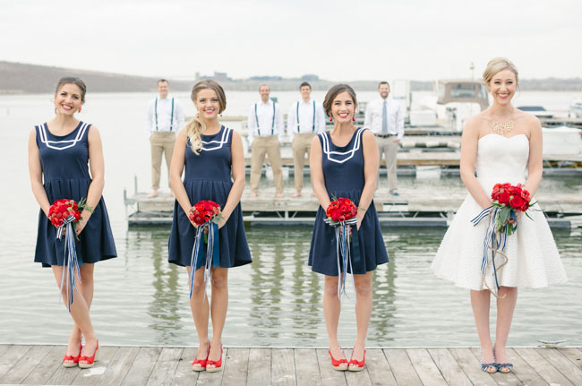 sailor bridesmaid dresses