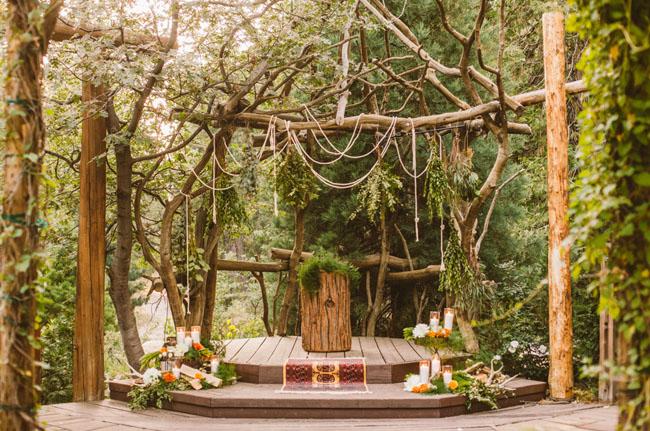 Moonrise Kingdom decoración de la ceremonia