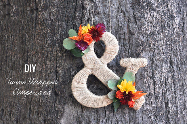 DIY Twine Wrapped Ampersand