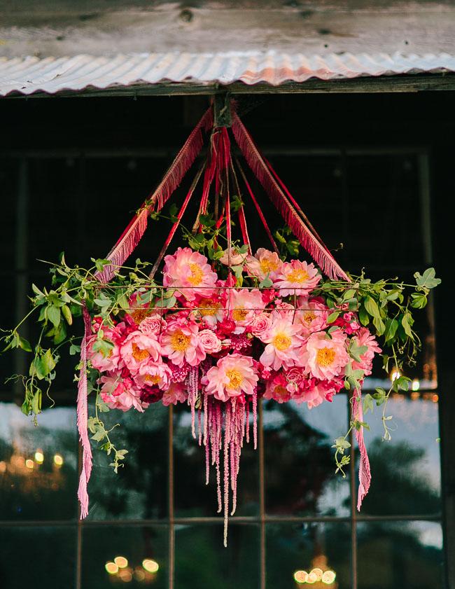 hanging peonies