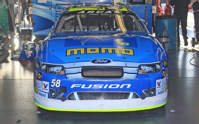 Kyle Weatherman car in garage at Daytona 2016