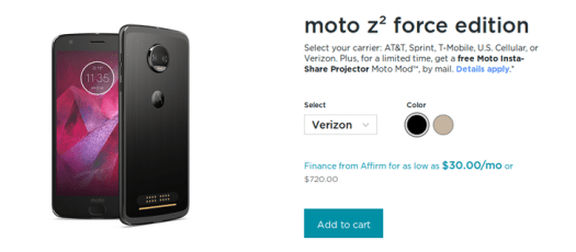 Motorola Moto Z2 Force goes on sale in US – My Blog