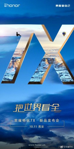 Huawei launches the Honor 7X on October 11