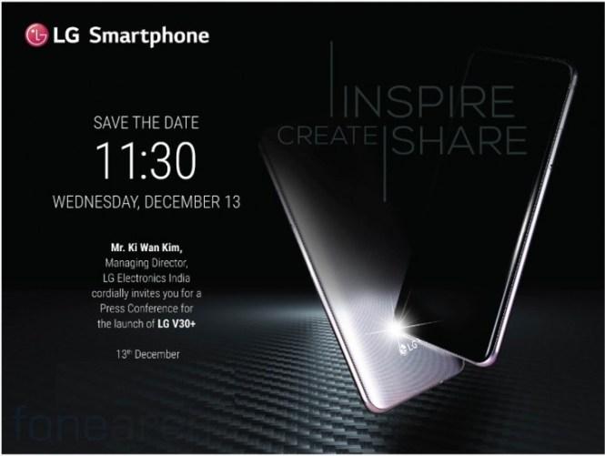 LG V30+ arrives in India next week