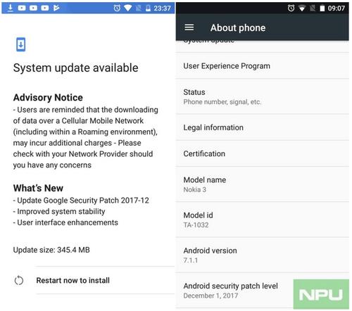 Atualização Nokia 3 começa a ser distribuida 1