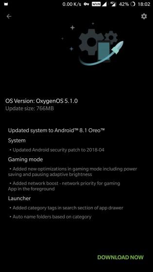 Screenshots of the new update
