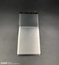Alleged Samsung Galaxy Note9 tempered glass screen protector