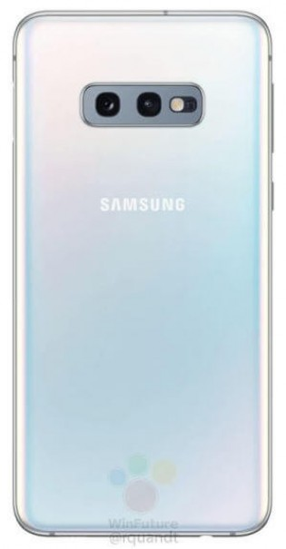 Galaxy S10E from the back and the left side