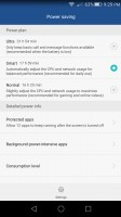 Battery management menu - Huawei Honor 5x review