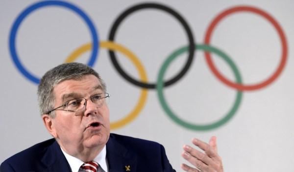 International Olympic Committee president Thomas Bach. / AFP PHOTO / FABRICE COFFRINI