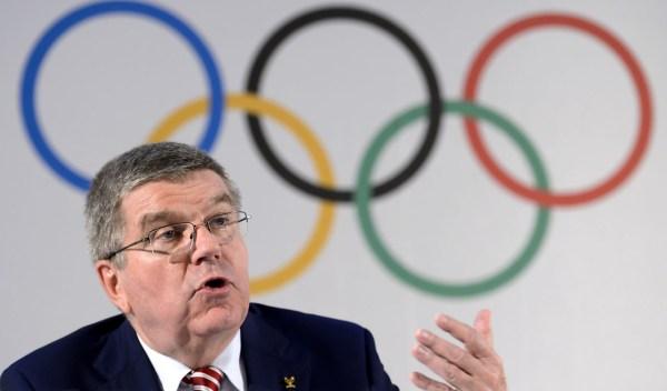 International Olympic Committee president Thomas Bach. / AFP PHOTO / FABRICE COFFRINI