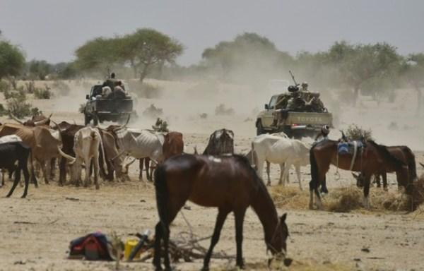 Niger soldiers patrol near a village in the Diffa region. PHOTO: AFP/Issouf Sanogo