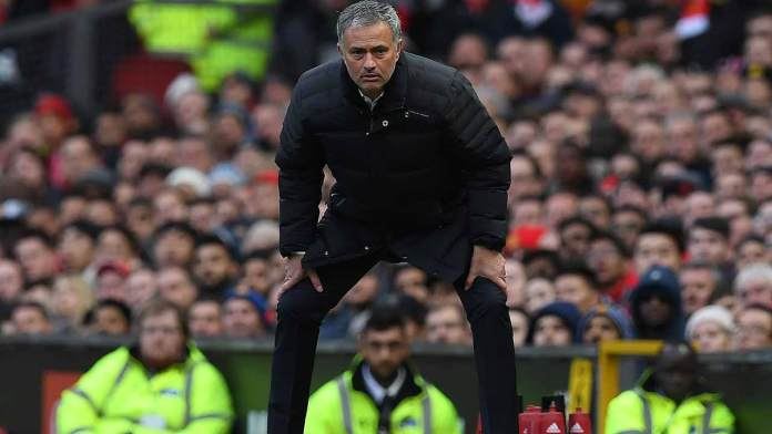 Manchester United's Portuguese manager Jose Mourinho reacts during the English Premier League football match between Manchester United and Arsenal at Old Trafford in Manchester, north west England, on November 19, 2016.  Paul ELLIS / AFP