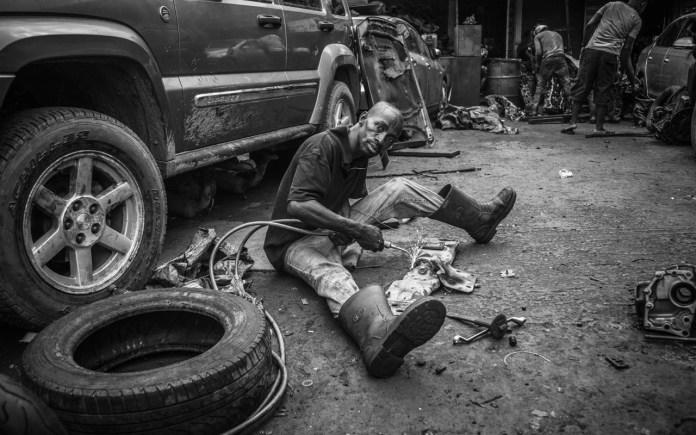 Mechanic at work PHOTO: Seun O