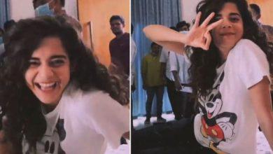 On Sets: Mithila Palkar Having Fun-Time