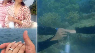 Watch: Mehreen's Underwater 'Proposal' – Gulte