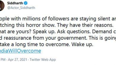Siddharth's 'Speak Up' Tweet Storms Social Media